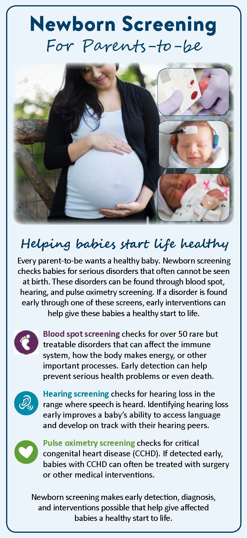 Newborn Screening for Parents-to-be (Prenatal Handout)